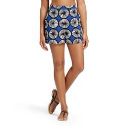 Marimekko Women's Appelsiini Print Shorts - Blue - Size: Large