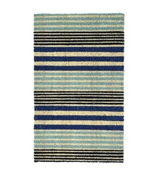 "Threshold Cool Stripe Outdoor Doormat - Blue - Size: 23""x35"""
