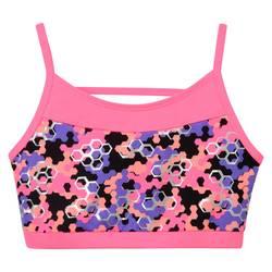 Freestyle by Danskin Girls' Honeycomb Sport Bra - Multi-Colored - Small