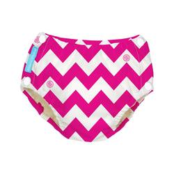 Charlie Banana Baby Reusable Easy Snaps Swim Diaper - Pink Chevron- Medium