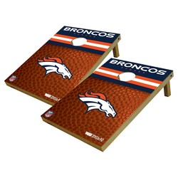 Wild Sports NFL Denver Broncos Platinum Shield Cornhole Bag Toss Set