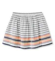 Cherokee Girls' Stripe A-Line Skirt - Blue - Size: Medium