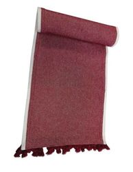 """Threshold 14"""" X 72"""" Woven Table Runner with Tassels - Red"""