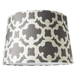 Threshold Flocked Elephant Large Lamp Shade - Grey