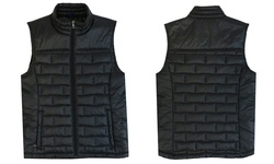 Spire By Galaxy Premium Light Weight Puffer Vest - Black - Size: Large