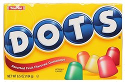 Dots Assorted Fruit Gumdrops Candy - 6.5Oz