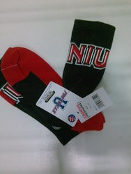 Campus Footnotes NCAA Athletic NIU Socks - Black/Red - Size: 10-13
