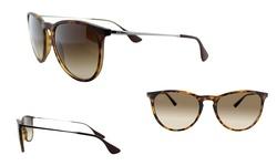 Ray-Ban Women's Polarized Erika Sunglasses - Tortoise/Gunmetal Brown
