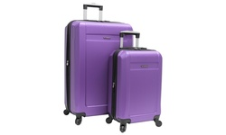 Ciao Tracker Hard Side Spinner Luggage Set - Purple - 2Piece