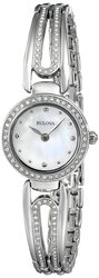 Bulova Women's Silvertone Crystal-Accented Bangle Watch