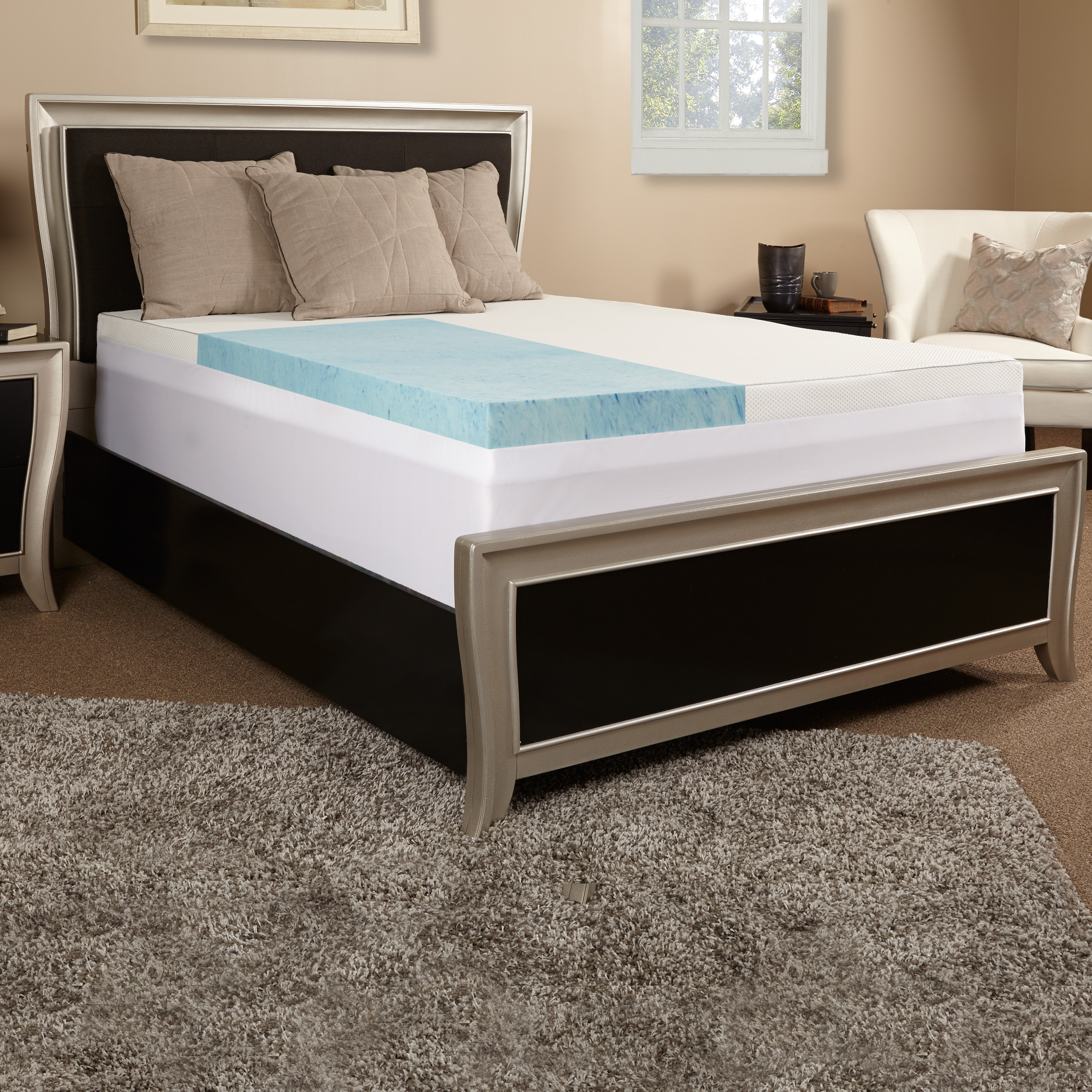 topper alternative over mattress bath cheer fiber down product overstock bed shipping collection orders on free bedding