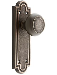 Emtek Belmont Door Set with Belmont Knobs Dummy Oil-Rubbed - Bronze