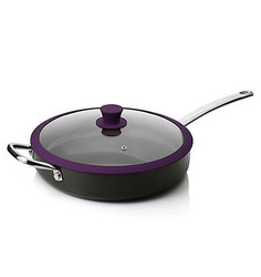 "Todd English Hard Anodized 12"" Deep Sided Saute Pan - Plum"