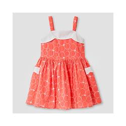Oshkosh Girl's Scallop Neck Dress - Coral - Size: 2T