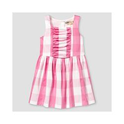 Oshkosh Girl's Buffalo Plaid Dress - Pink - Size: 5T