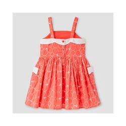 Oshkosh Girl's Scallop Neck Dress - Coral - Size: 3T