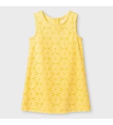 Oshkosh Girl's Eyelet Sun Dress - Yellow - Size: 4T