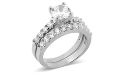 Round Center Stone 2-Piece Engagement Ring - Size: 6