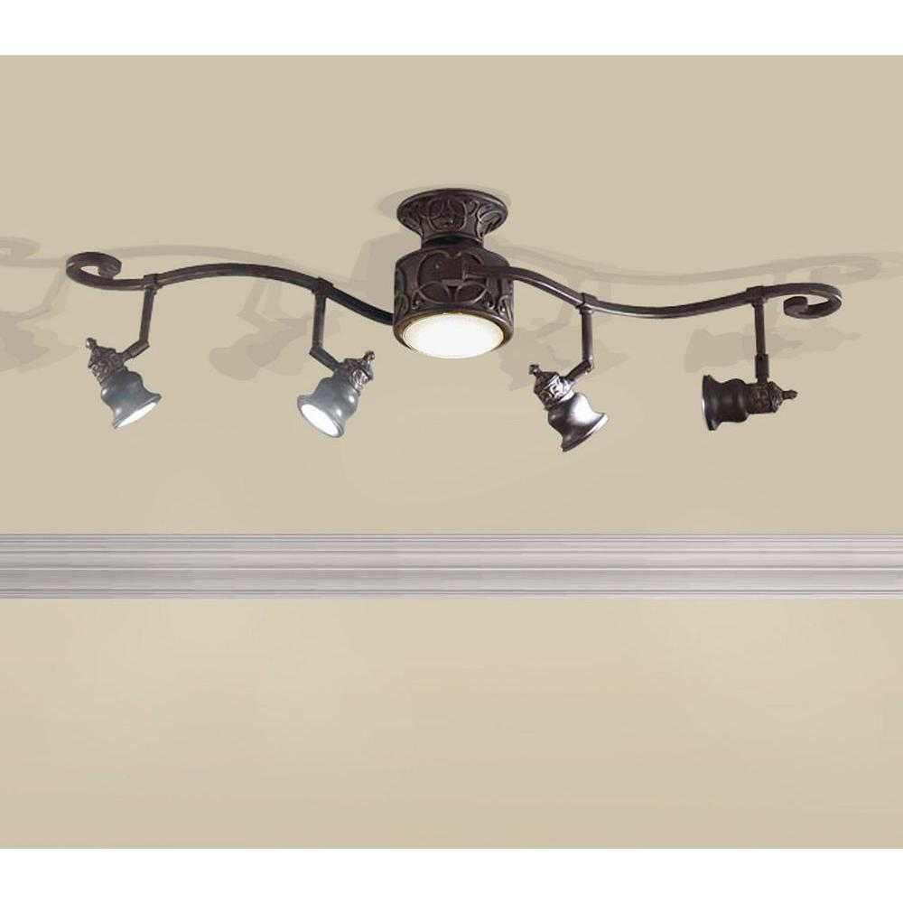 led lighting in kitchen hampton bay kara 5 light track lighting bronze 15561 6930
