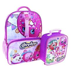 Shopkins Backpack with Lunch Bag - Pink - Size: 16""