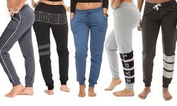 Fleece Joggers: Charcoal/black-charcoal/denim/heather/charcoal - Large