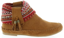 Women's Ankle High Snickers Moccasins In Tan: Size 7