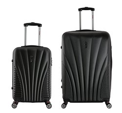 Inusa Chicago Hardside Spinner Luggage: Black-21'' And 29'' Set/2-piece