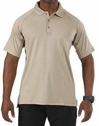 Men's 5.11 Tactical Short Sleeve Performance Polo Silver Tan