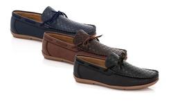 Franco Vanucci Men's Driver Shoes Medium Width: Navy/10.5m