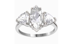 3.85 Carat Genuine White Topaz 925 Sterling Silver Fashion Ring