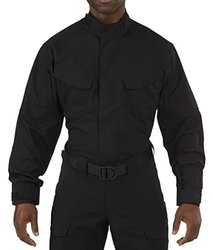 5.11 Men's Stryke Long Sleeve TDU Shirt, Black, XX-Large