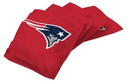 NFL New England Patriots Regulation Duckcloth Bean Bags (4 Pack), 16 oz, Red
