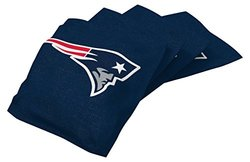 NFL New England Patriots Regulation Duckcloth Bean Bags - 4 Pack - Blue