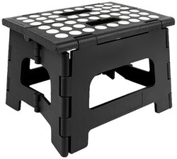 Kikkerland Rhino Folding Stool - Black
