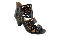 NY VIP Women's 819 High-Heeled Sandals - Black - Size: 8