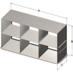 Alkali Scientific Upright Rack for Boxes Containing 15&50 ml Tubes