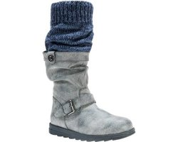 Flattering Sky Boots With Belt Wrap For Women: Gray/size 8