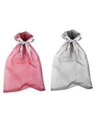 Dahlia Women's Long Sheer Silk Scarf - Abstract Rose Abstract Rose - Gray