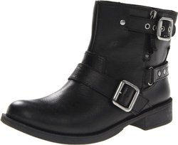 Nine West Women's Tieler Boot,Black Leather,8 M US