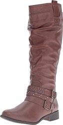 Xoxo Knee High Maeko Boots: Brown-wide Calf/8
