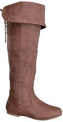 La Bella Women's Thigh High Lace-Up Boots - Tan - Size: 8