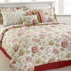 Jessica Sanders Gardendale 10 Piece Comforter Set - Wine - Size: Queen