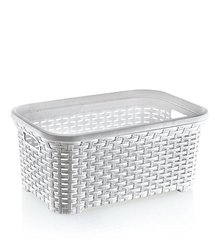 Rattan (wicker Style) 1.4 Bushel Laundry Basket (white)