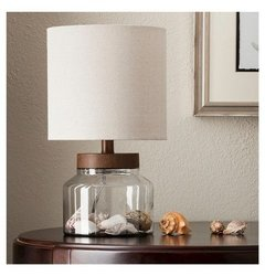 Threshold Wood & Glass Fillable Uplight Lamp (074-14-3295)