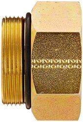 "EW 1-1/2"" Male x 1-1/4"" Female Carbon Steel Straight Thread O-Ring Adapter"