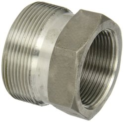 "Dixon RGB23 Female Spud 1-1/2"" NPT 316 Ground Joint Boss Fitting"