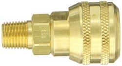 "EH 1/4""-18 NPTF M 1/4""-Port ISO-B Interchange Pin Lock Pneumatic Fitting"