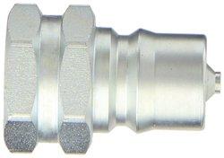 "EH 7/8""-14 SAE F Steel ISO-B Interchange Hydraulic Fitting Plug with Valve"