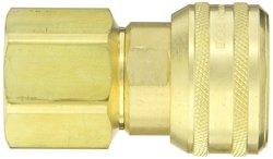 "EH 1""-11-1/2 NPTF F 1""-Port Brass Interchange Pin Lock Pneumatic Fitting"