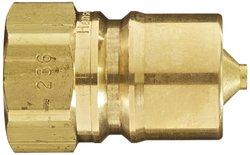 "EH 3/4""-14 NPTF F Brass ISO-B Interchange Hydraulic Fitting Plug w/ Valve"
